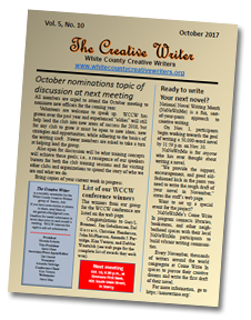 White County Creative Writers Group Newsletter